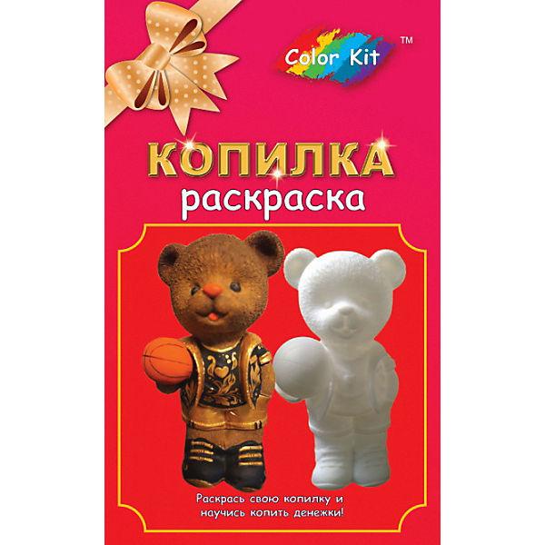 """Виниловая копилка-раскраска Color KIT """"Медведь-баскетболист"""""""