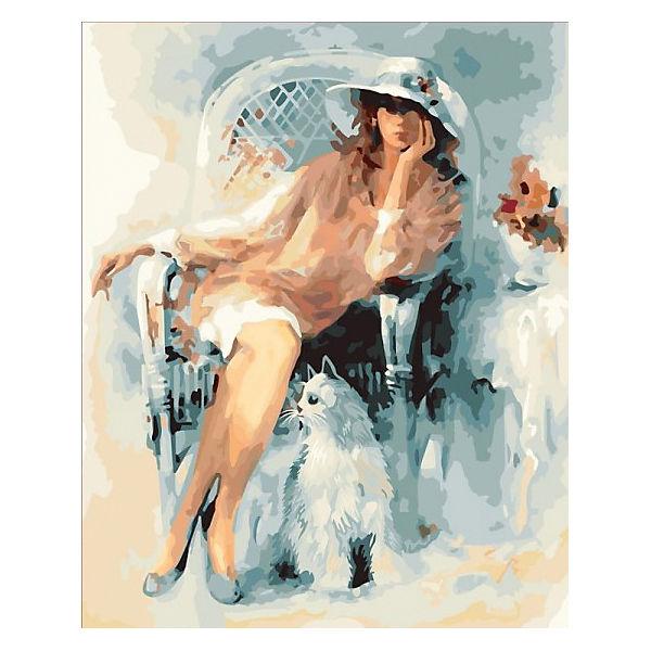 "Картина по номерам Color KIT ""Дама и кот"", 40х50 см"