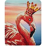 "Алмазная мозаика Color KIT ""Королевский фламинго"", 17х21 см"