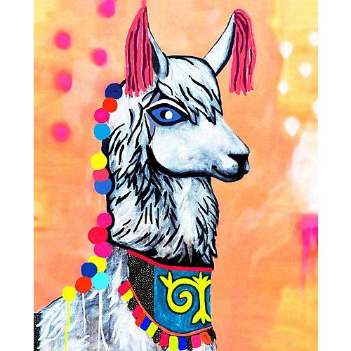 """Алмазная мозаика Color KIT """"Нарядная лама"""", 17х21 см от Color KIT"""