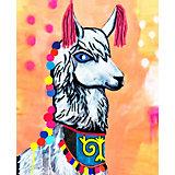 """Алмазная мозаика Color KIT """"Нарядная лама"""", 17х21 см"""