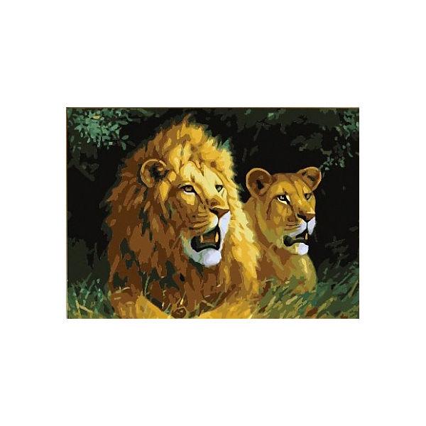 """Алмазная мозаика Color KIT """"Львиная семья"""", 40х50 см"""