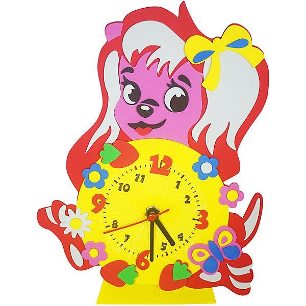 "Набор для творчества Color KIT ""Часы из фоамирана"" Собачка, 24х24 см"