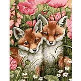 """Картина по номерам Color KIT """"Лисички-сестрички"""", 40х50 см"""