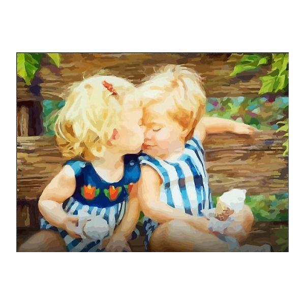 "Картина по номерам Color KIT ""Малыши с мороженым"", 40х50 см"