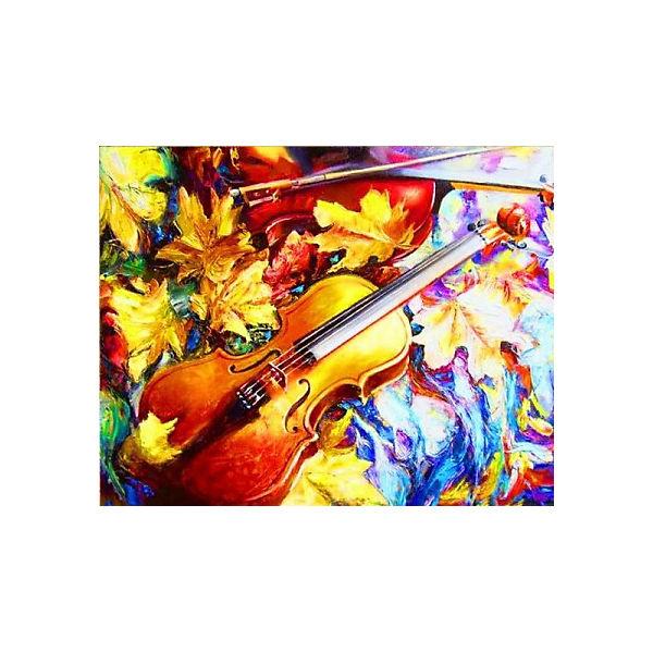 "Алмазная мозаика Color KIT ""Осенняя скрипка"", 40х50 см"