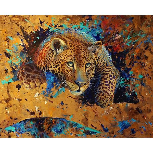 "Алмазная картина-раскраска Color KIT ""Леопард"", 40х50 см"