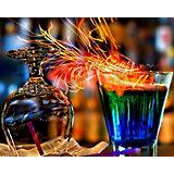 """Алмазная картина-раскраска Color KIT """"Огненные коктейли"""", 40х50 см"""