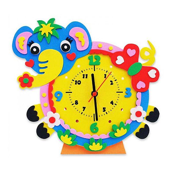 "Набор для творчества Color KIT ""Часы из фоамирана"" Слон, 24х24 см"