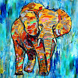 """Алмазная картина-раскраска Color KIT """"Яркая Африка"""", 40х40 см"""