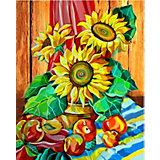 "Алмазная картина-раскраска Color KIT ""Натюрморт с подсолнухами"", 40х50 см"