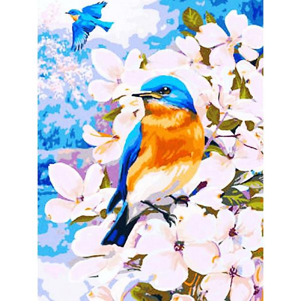 """Раскраска по номерам на картоне Color KIT """"Полёт весны"""", 30х40 см"""