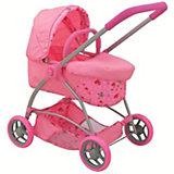 Коляска для кукол Buggy Boom Amidea, светло-розовая