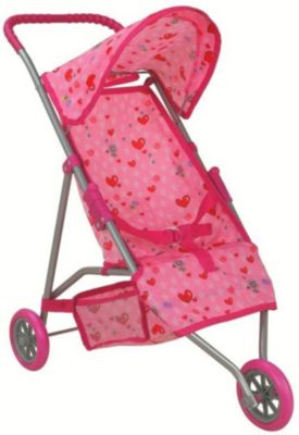 Коляска для кукол трехколесная Buggy Boom Mixy, светло-розовая