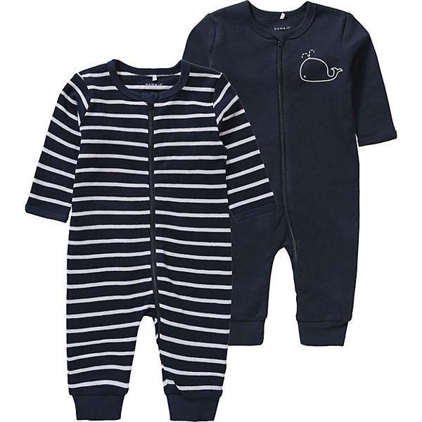 lebendig und großartig im Stil zuverlässigste günstigster Preis Baby Schlafanzug NBMNIGHTSUIT Doppelpack für Jungen, name it