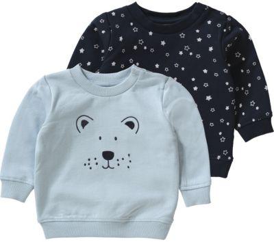Baby Sweatshirt NBMSENE Doppelpack für Jungen, Organic Cotton, name it