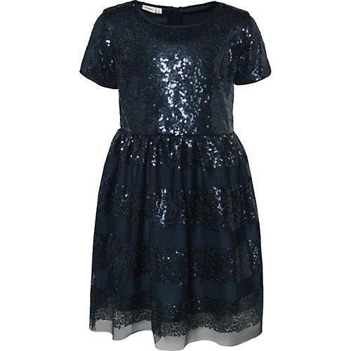 NAME IT Kinder Kleid NKFSUSANNI mit Pailletten Gr. 140 Mädchen Kinder | 05713742731211