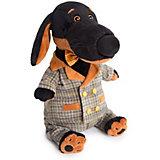 Мягкая игрушка Budi Basa Собака Ваксон с сером костюме в клетку, 25 см