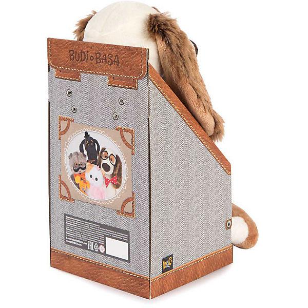 Мягкая игрушка Budi Basa Собака Бартоломей в пальто в клетку, 27 см