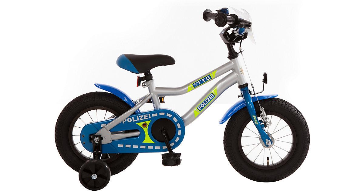 Kinderfahrrad Polizei 12,5 Zoll, blau-silber-neon | Kinderzimmer > Spielzeuge > Kinderfahrräder | Bachtenkirch