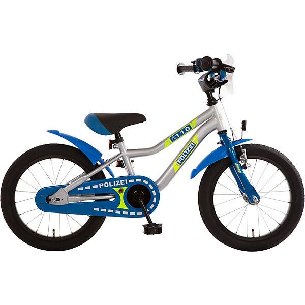 Kinderfahrrad Polizei 16 Zoll Blau Silber Neon Bachtenkirch Mytoys