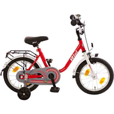 16 Zoll Bachtenkirch Kinderfahrrad Bibi Fahrrad mit Rücktrittbremse weiß rot