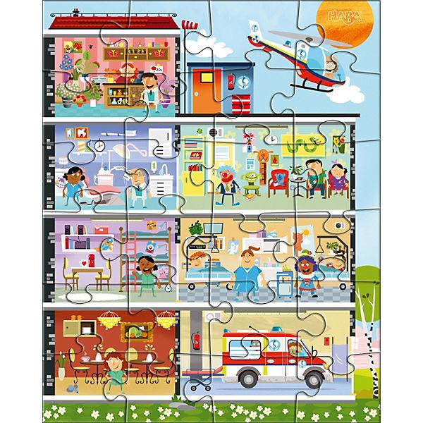 Puzzleset 3 x 24 Teile - Kleines Krankenhaus, Haba Uge8tV