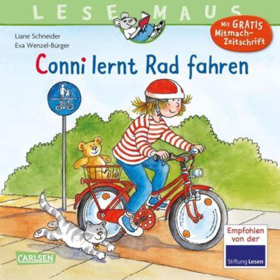 Buch - Lesemaus: Conni lernt Rad fahren