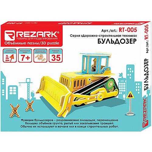 """Сборная модель Rezark """"Дорожно-строительная техника"""" Бульдозер, 35 элементов от Rezark"""