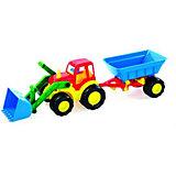 """Трактор Zebratoys """"Active"""" с ковшом и прицепом, 59 см"""