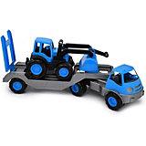 """Автомобиль с платформой Zebratoys """"Active"""" 61 см, синий"""