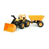 """Трактор с ковшом и прицепом Zebratoys """"Active"""" 55 см, оранжевый"""