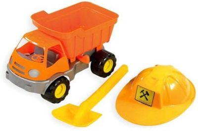 Игровой набор для песочницы Zebratoys Самосвал c каской и лопатой