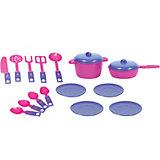 """Набор  игрушечной посудки Zebratoys """"Обед"""", 18 предметов"""