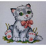 """Набор для вышивания мулине Klart """"Котёнок"""", 10х10 см"""