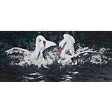 """Алмазная мозаика Фрея """"Белые лебеди"""", 53х24,5 см"""
