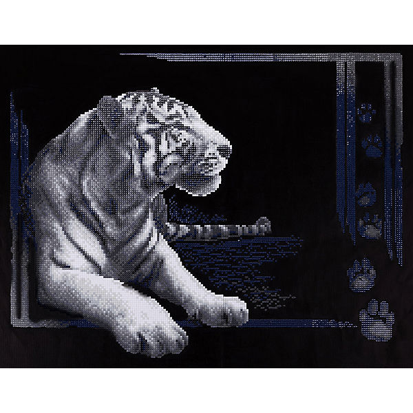 "Алмазная мозаика Фрея ""Тигр"", 38х48 см"