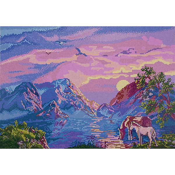 """Алмазная мозаика Фрея """"Водопой в горах"""", 54х38 см"""