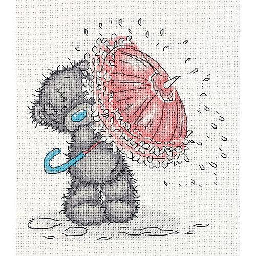 """Набор для вышивания мулине Klart """"Tatty Teddy с зонтиком"""", 17,5х19,5 см от Klart"""