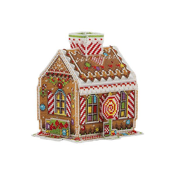"Набор для вышивания Panna ""Бэкстич"" Пряничный домик, 10х12х12 см"