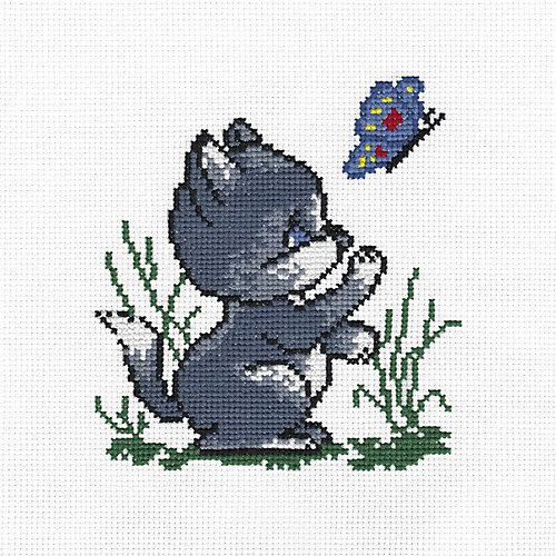 """Набор для вышивания Panna """"Счётный крест"""" Котик, 11х11,5 см от Panna"""