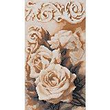 """Алмазная мозаика Фрея """"Чайные розы"""", 36,8х20,5 см"""