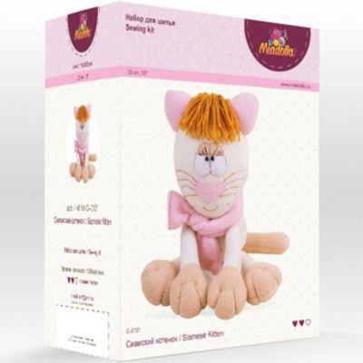 """Набор для шитья игрушек Miadolla """"Зверьки и птички"""" Сиамский котёнок"""