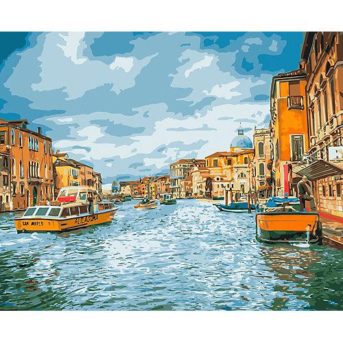 """Картина по номерам на холсте Фрея """"Прогулка по Венеции"""", 50х40 см от Фрея"""