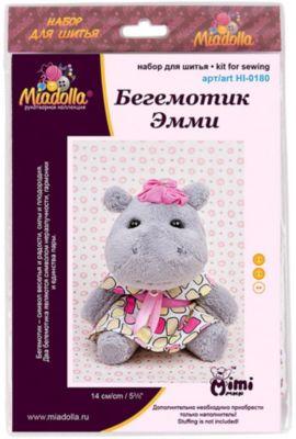 """Набор для шитья игрушек Miadolla """"MiMi Мир"""" Бегемотик Эмми"""