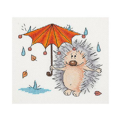 """Набор для вышивания мулине Klart """"Осенний ёжик"""", 17х16 см от Klart"""