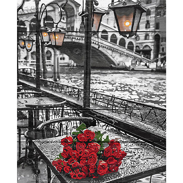 "Картина по номерам на дереве Фрея ""Венеция - город любви"", 50х40 см"