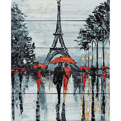 """Картина по номерам на дереве Фрея """"Прогулка под дождём"""", 50х40 см от Фрея"""