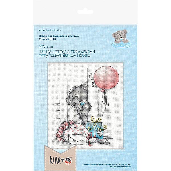 "Набор для вышивания мулине Klart ""Tatty Teddy с подарками"", 17х20 см"