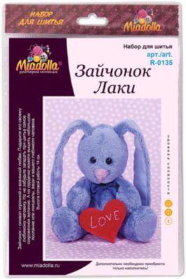"""Набор для шитья игрушек Miadolla """"MiMi Мир"""" Зайчонок Лаки"""